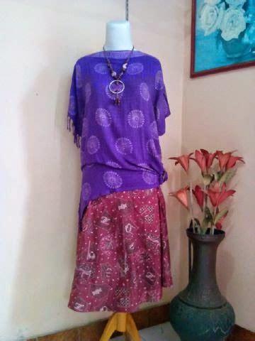 Gamis Batik Terbaru Setelan Atasan Bawahan Gb223 Biru bw 019 aneka model baju batik modern pria dan wanita