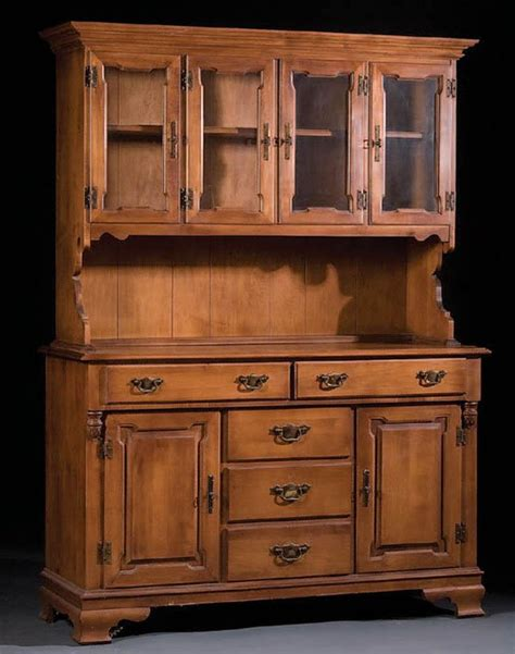 Tell City Hutch 1087 a tell city maple early american style hutch