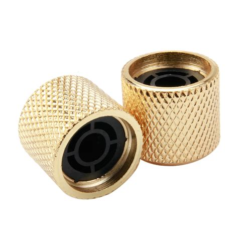 Volume Knobs by Volume Cotrol Knobs Guitar Bass Dome Tone Knobs 4pcs Gold