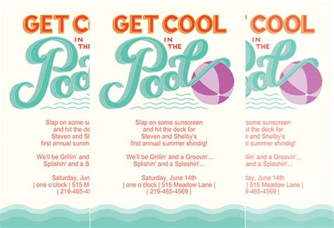 pool invitation template word printable pool invitations gangcraft net