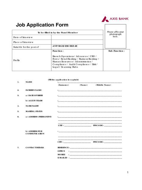 bank job application form   templates   word