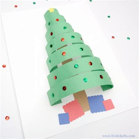 xmas tree activity out of construction paper 3d paper tree crafts for twitchetts