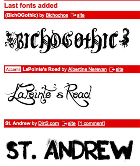 dafont new new fonts on dafont