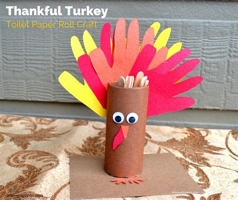 Thanksgiving Crafts With Toilet Paper Rolls - thankful turkey toilet paper roll craft a