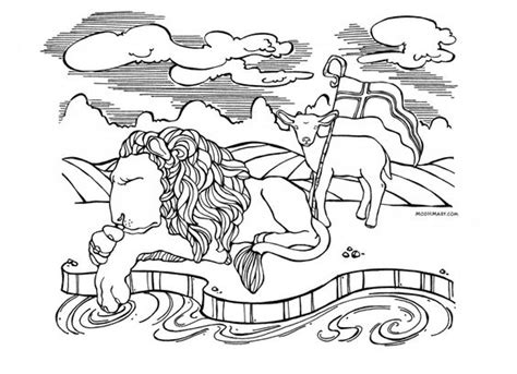 bible coloring pages lion and lamb pinterest the world s catalog of ideas