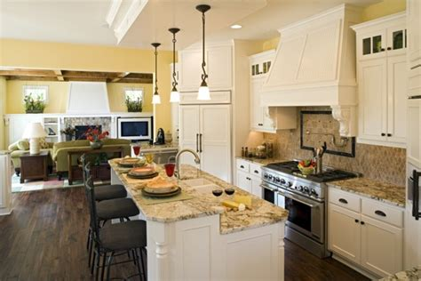 open kitchen floor plans pictures remodeling your kitchen with classy style open kitchen