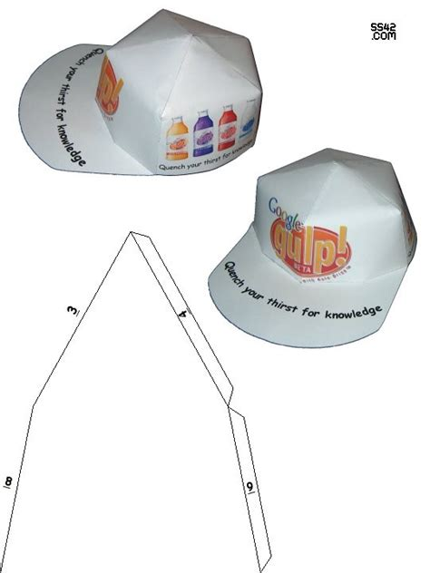 Paper Cap - paper hat patterns