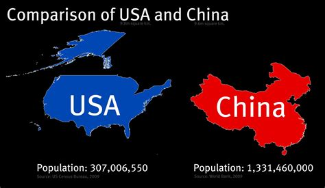 map of usa vs china the raedar the size of countries usa and china