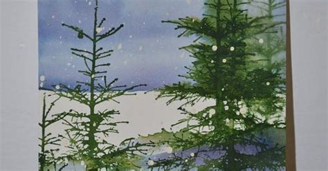 acrylic painting evergreen trees evergreen trees and snow in watercolor painting tutorial