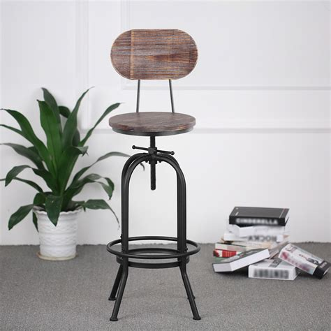 Bar Stool Chair Height by Ikayaa Bar Stool Height Adjustable Swivel Kitchen Dining