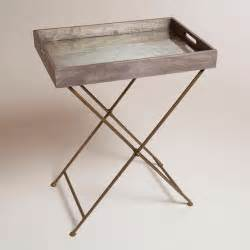 Butler Tables Mirrored Wood Butler Tray Modern Side Tables And End