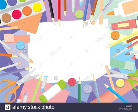 wallpaper craft com art workshop kids craft supplies top view background
