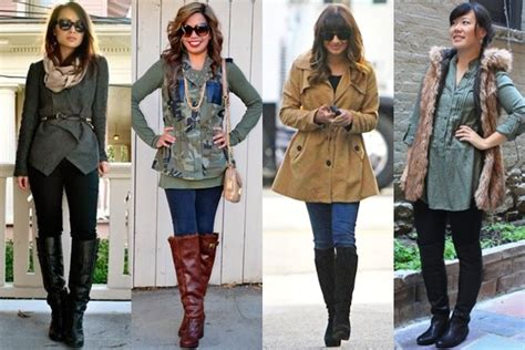 how to wear boots in various styles and heights knee high
