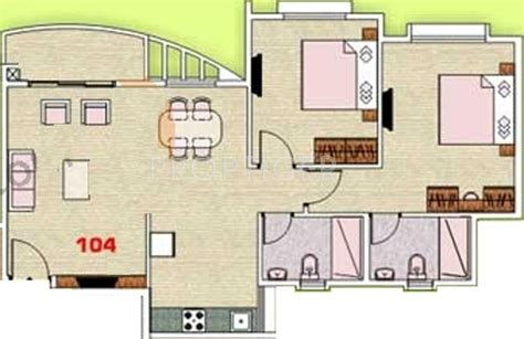 1124 Sq Ft 2 Bhk 2t Apartment For Sale In Pegasus 1000 Sq Ft House Plans In Pune