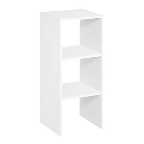 closetmaid 3 shelf vertical stacker white 1011000