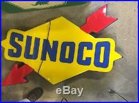 sunoco lighted signs for sale vintage sunoco lighted sign canopy gas oil garage car