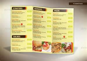 Tri Fold Restaurant Menu Templates Free by Doc 626626 A La Carte Menu Template Editable