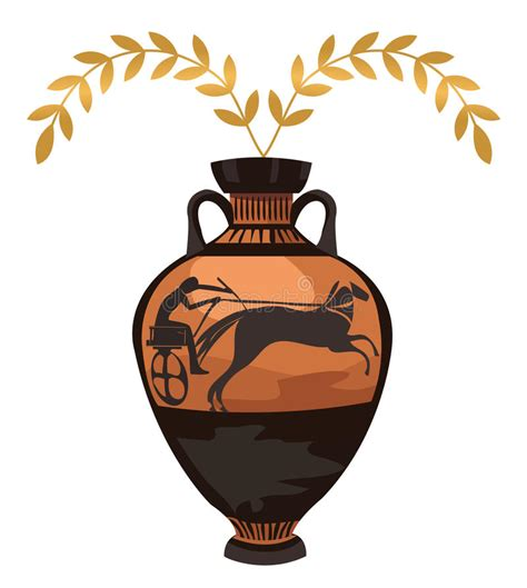 vaso greco antico vaso greco antico illustrazione vettoriale illustrazione