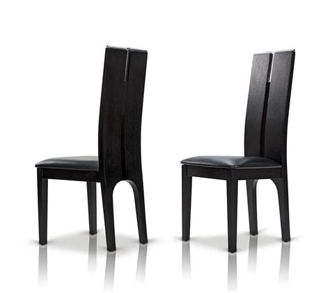Oak And Black Dining Chairs Modrest Maxi Black Oak Dining Chair Set Of 2