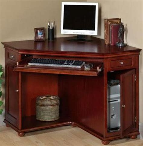 cherry wood corner desk computer desk ideas for small spaces studio design