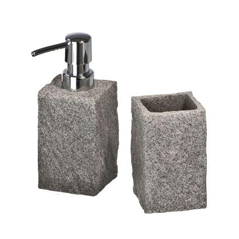 wenko accessori bagno wenko set di accessori per il bagno granit 2 pezzi