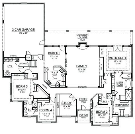 4 bedroom one story house plans simple 4 bedroom house plans zdrasti club
