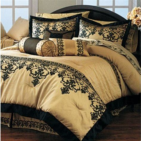 Black And Gold Comforters by Damask Gold And Black Bedding Home Decor