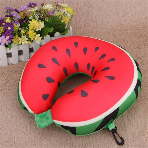 Travel Pillow Bantal Mobil Bantal Travel Bantal U Bantal Leher bantal leher travel u shape mobil model watermelon multi