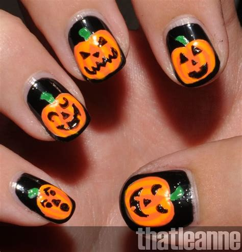 pumpkin nail design pumpkin nails nail