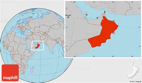oman in world map gray location map of oman