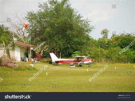 backyard airplane small airplane in farm backyard stock photo 4785916