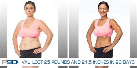 transformation tuesday val lost 25 pounds with p90 the