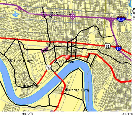 new orleans zip code map map of new orleans zip codes swimnova