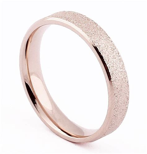 4mm gold polished stainless steel ring wedding band