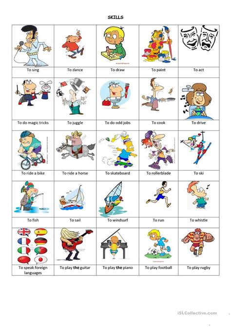 skills and abilities worksheet free esl printable worksheets made by teachers
