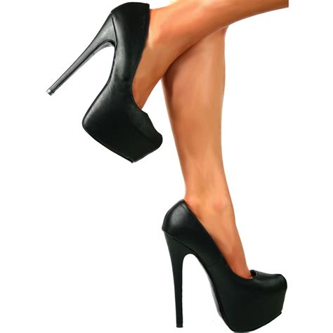 black platform high heels shoekandi high heel concealed platform stiletto shoes