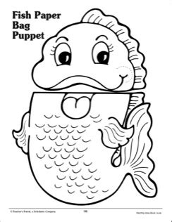 free printable paper bag puppet templates best photos of fish puppet template free puppet patterns