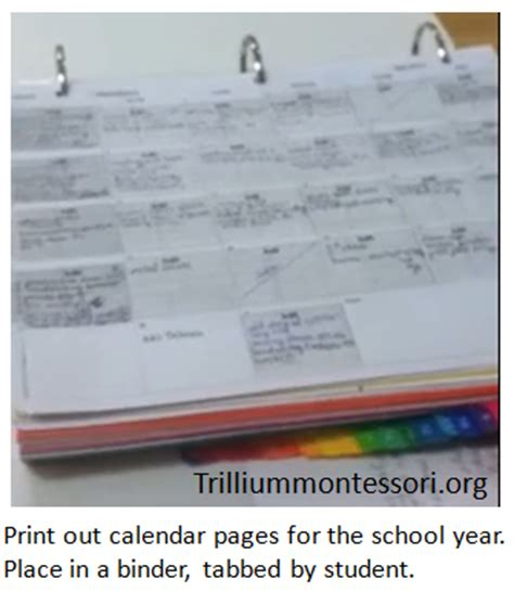 Trillium Report Card Templates by Montessori Lesson Plans Plan For A Specific Date But
