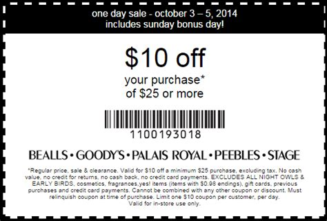 bealls outlet printable coupons 2014 bealls coupons in store texas i9 sports coupon