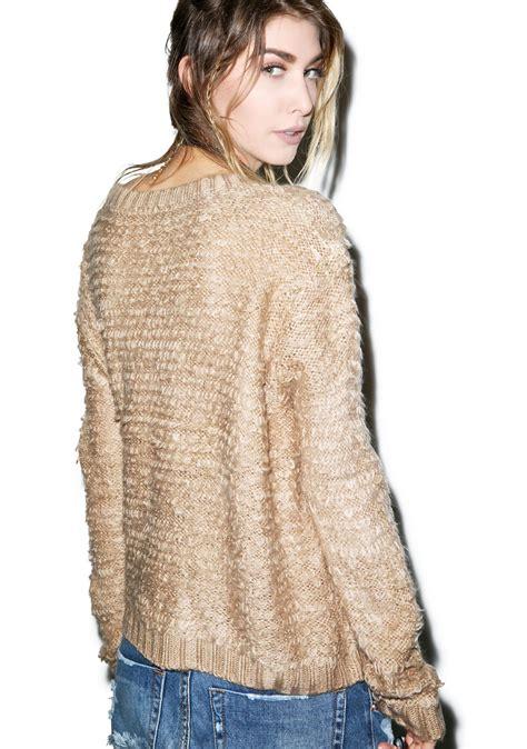 fluffy knit sweater somedays lovin turntable fluffy knit sweater dolls kill