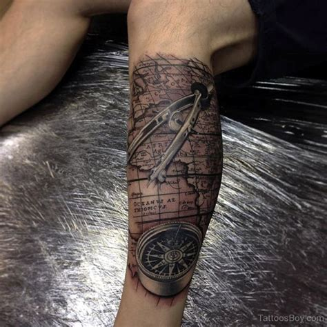 compass and map tattoo compass tattoos designs pictures page 3