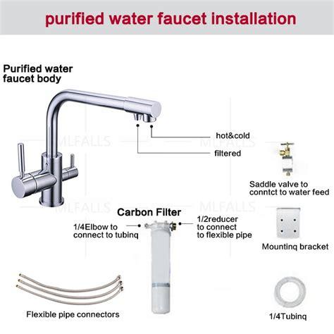 100% en laiton chrome poli chaude et froide purificateur d'eau du robinet 3 Voies mélangeur d