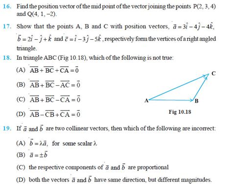 tutorial on vector algebra vector algebra class 12 ncert solutions