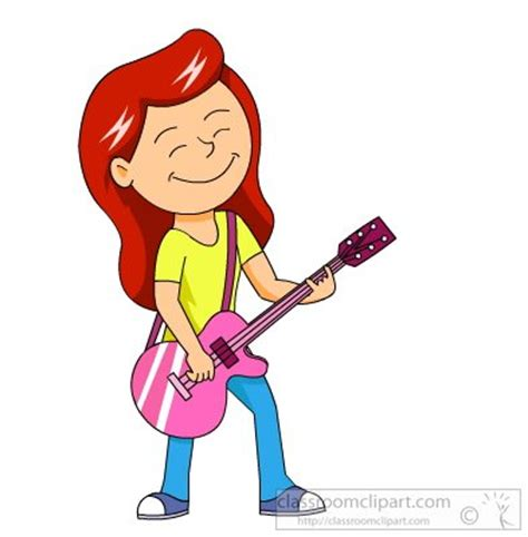 girl playing guitar clip art playing guitar clipart free clipart images clipartix