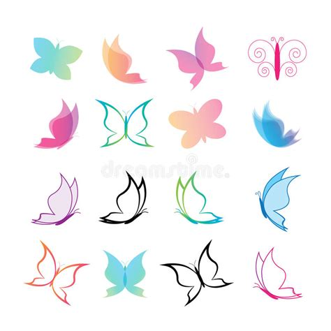 Butterfly Set butterfly set stock vector illustration of icon colorful