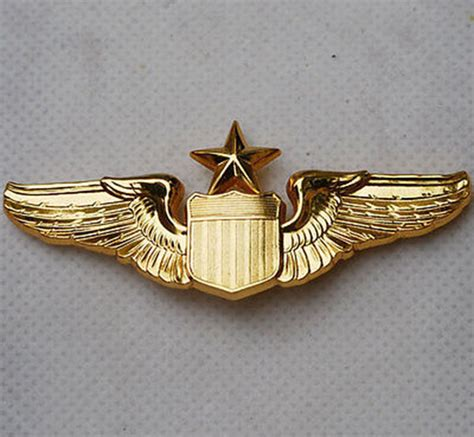 Wing Pilot Badge Us Air Usaf Emblem usaf u s air senior pilot metal wing badge insignia us203 in sports souvenirs from sports