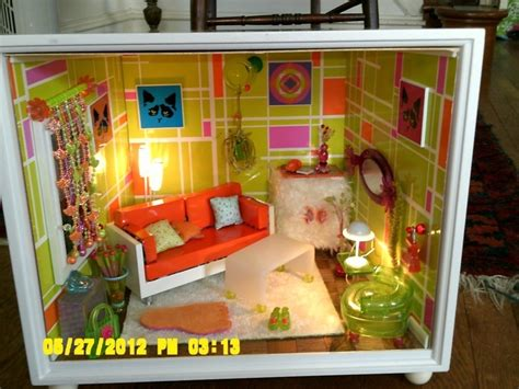 ag mini doll house ag mini groovy room complete set american girl