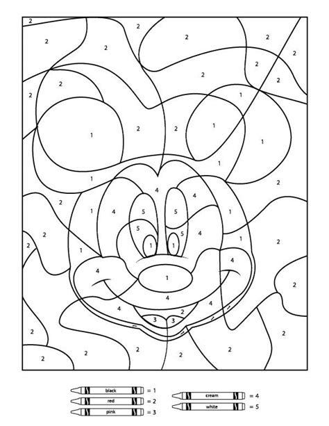 color by number printable your children will these free disney color by number