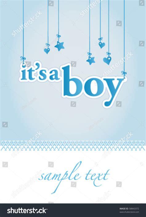 baby boy announcement card template baby boy arrival announcement card stock vector