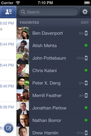facebook messenger refreshed  chat bubbles iphone